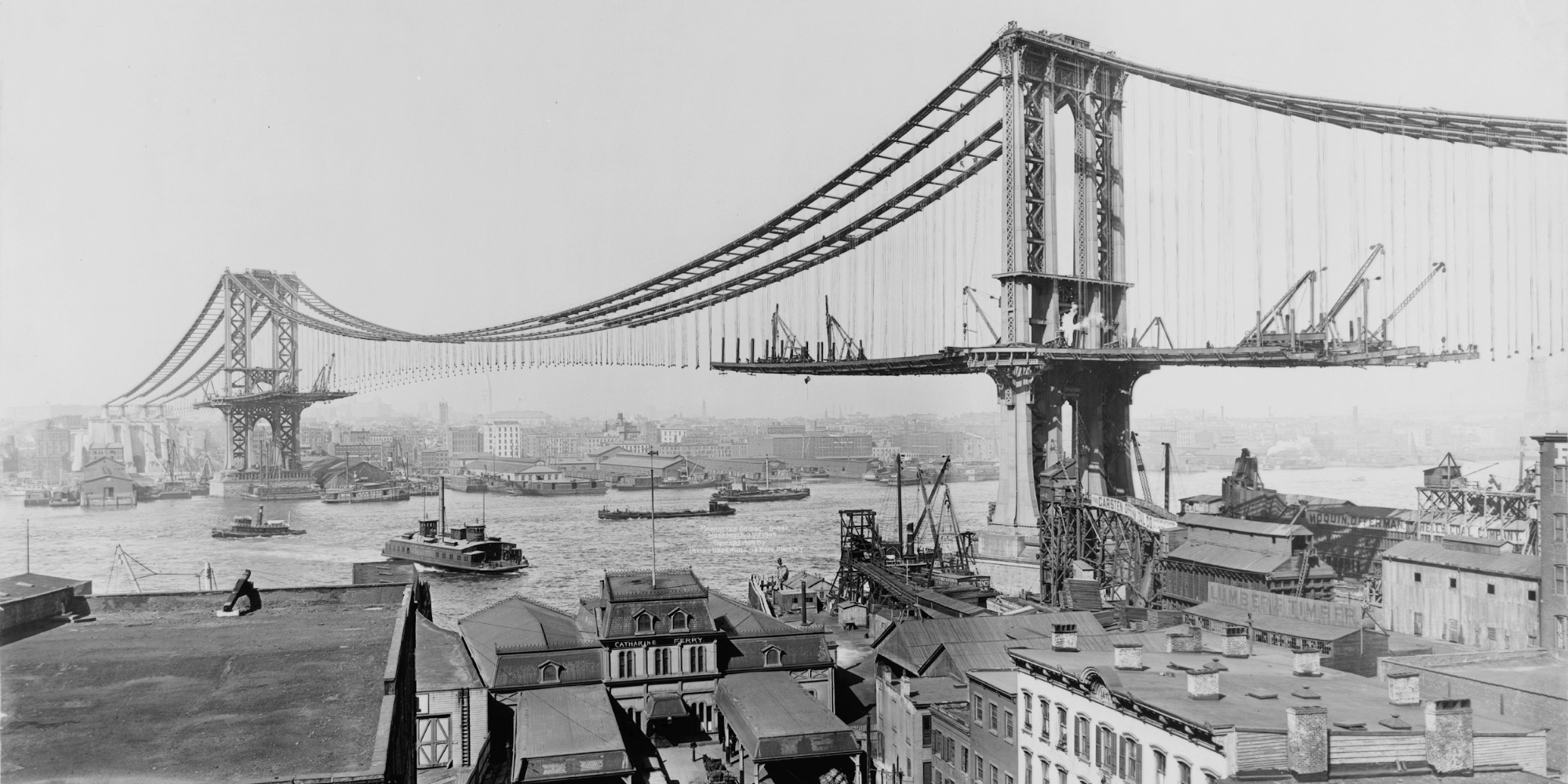 old picture of construction - bridge