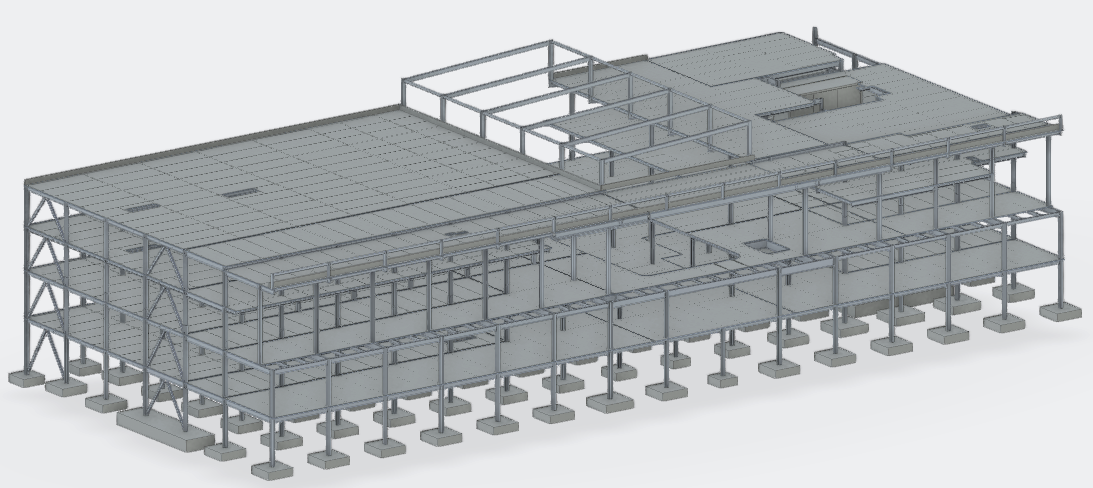 BIM model example including construction errors