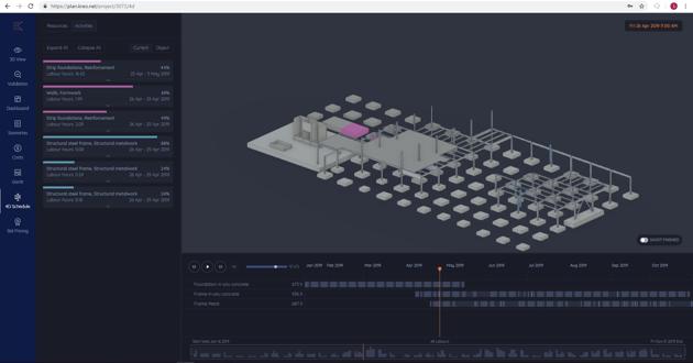 4D BIM model simulation after fixing errors