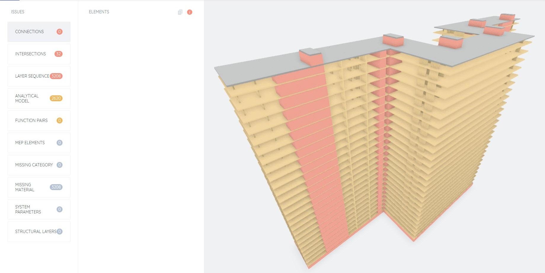 Accurate structural BIM model