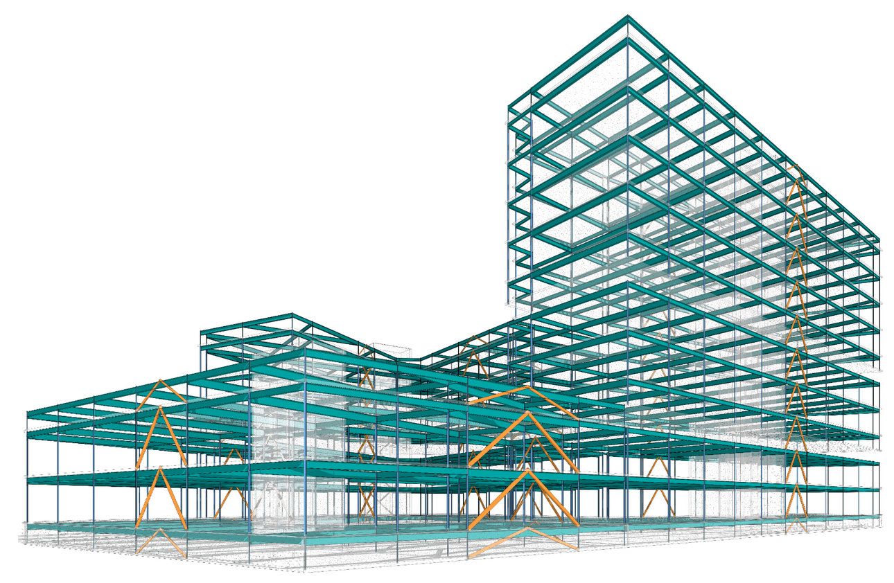 structural model - where digital twin becomes bim