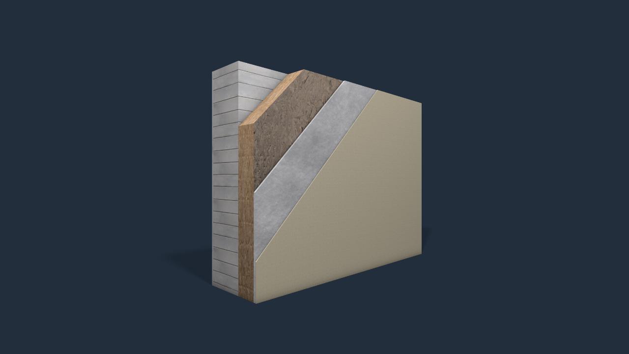 bim model diagram - wall layers