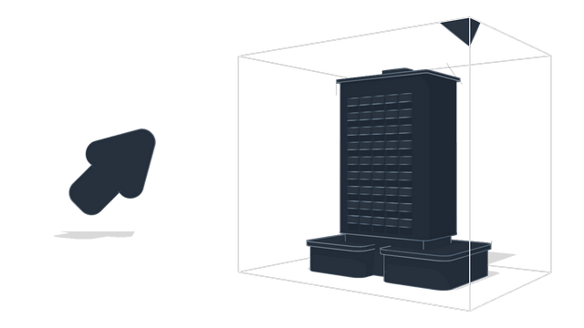 Use Clip-box option <br> to examine the BIM-model